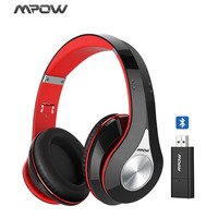 Original Hi Fi Stereo Mpow 059 Wireless Bluetooth Headphones With Mic Bluetooth Transmitter EVA Bag Case