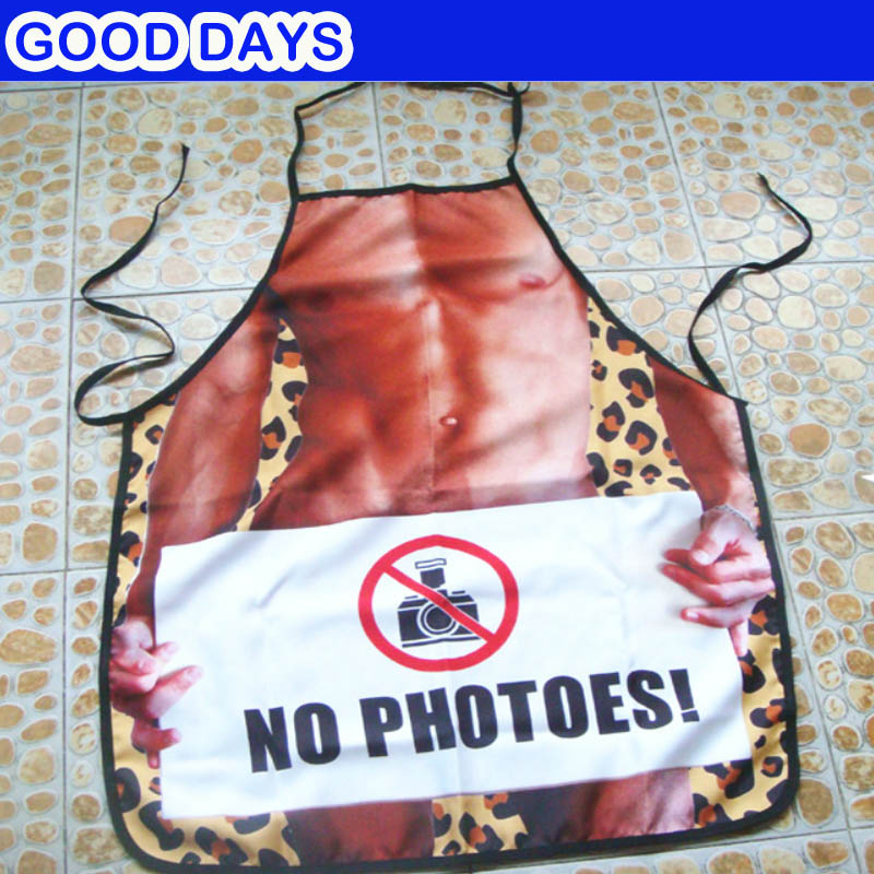 Sexy Man No Photoes Funny Apron Beautiful Creativity Gift BBQ Apron Kitchen Woman Men Funny Bar Party Apron Wedding Apron