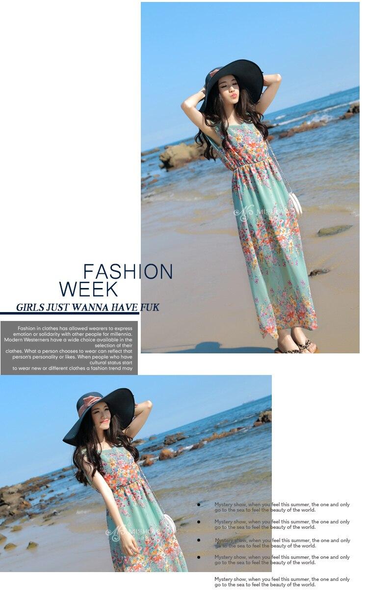 1ca4b4625c8d4 2015 new arrival fashion summer chiffon dresses Holiday beach dress long  dresses online brand designer dresses online shopping-in Dresses from  Women's ...
