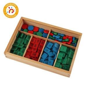 Материалы Монтессори, деревянные игрушки, штамп, игра, разное издание, деревянные Этикетки, марки, математическая игрушка, раннее образован...