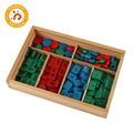 Materiais montessori brinquedos de madeira selo jogo edição diferente etiquetas de madeira selos brinquedo matemática cedo educacional