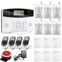 GSM Control Wireless Home Security GSM Alarm System Intercom Remote Control Autodial Siren Sensor Kit APP