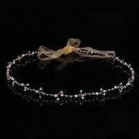 Classic Gorgeous Bride Crystal Beads Hairband Romantic Wedding Flower Girl Tiara Women Pearl Crystal Glass Headband