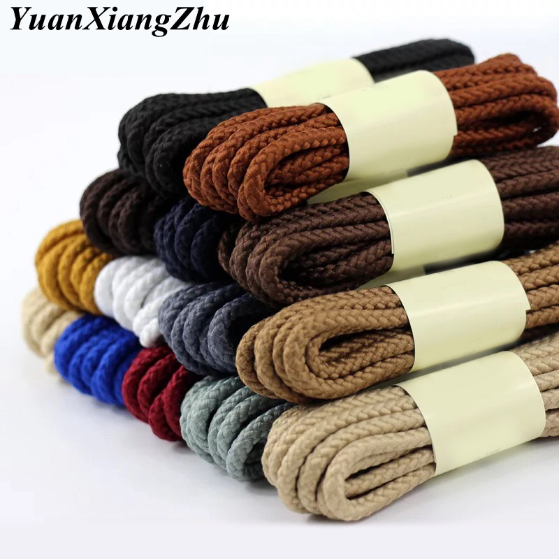 1 Pair Round Shoelaces  Leather Shoes Laces Snow Martin Boots Sport  Casuals Shoelace For Men Women Length 80/100/120/140/160cm