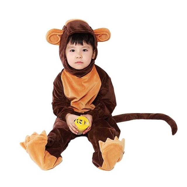 e9a22c92e2d2 Unisex Kids Child Pajamas Kigurumi Monkey Onesie Anime Halloween Costume  for Boys Girls