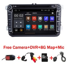 In Stock 8 IPS Android 9.0 Car DVD Player for VW Passat B5 Polo Golf MK 5 6 Tiguan Jetta Wifi 3G Radio GPS Free camera DVR MAP цена