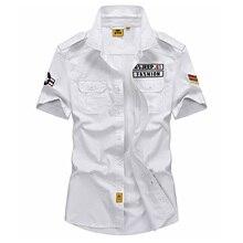 Afs jeep marke shirt männer 2017 casual 100% baumwolle herren sommer shirts kurzen ärmeln camisas hombre vestir 5xl camisetas 64wy