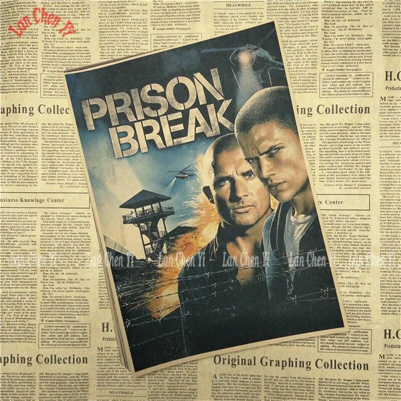 Կլասիկ հեռուստասերիալ Prison Break Kraft Paper - Տնային դեկոր - Լուսանկար 2