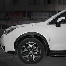 2 items eyebrow wheel arc and mud flaps splash guards fenders mudguard for Subaru Forester 2013 2014 2015 2016 2017 year