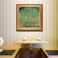YongHe Home Decorative Oil Painting Vienna Secession Gustav Klimt Apple Trees Customizable Spray Painting Frameless ink Poster