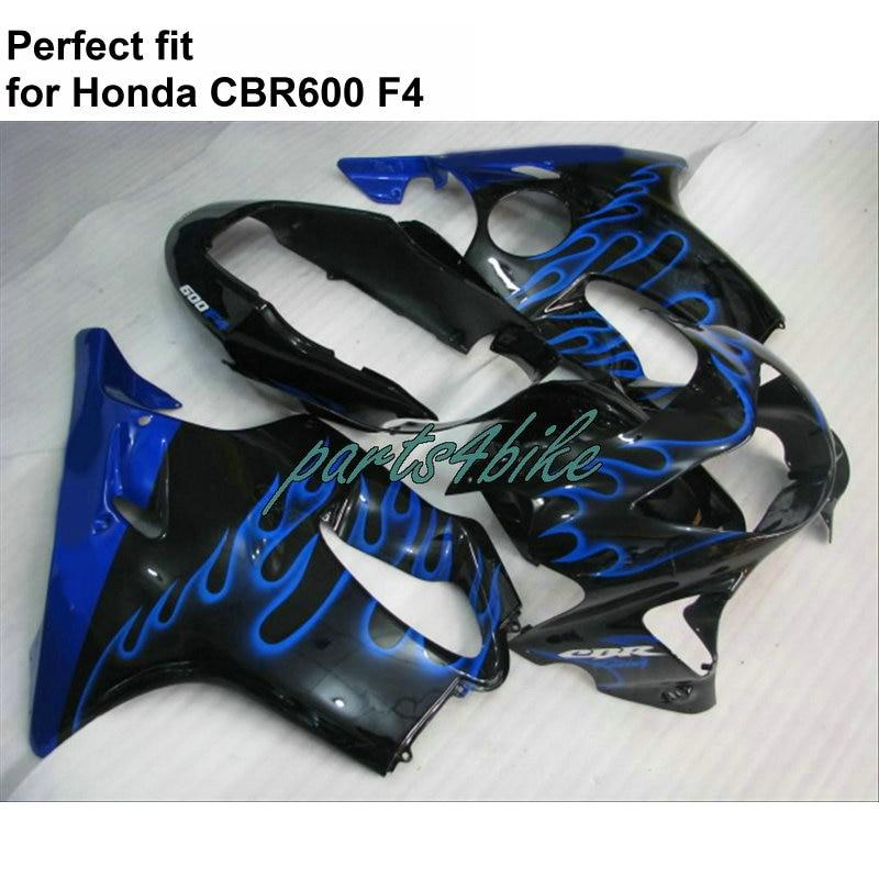 ⑤Carenados de plástico ABS para Honda CBR600 F4 1999 2000 azul ...
