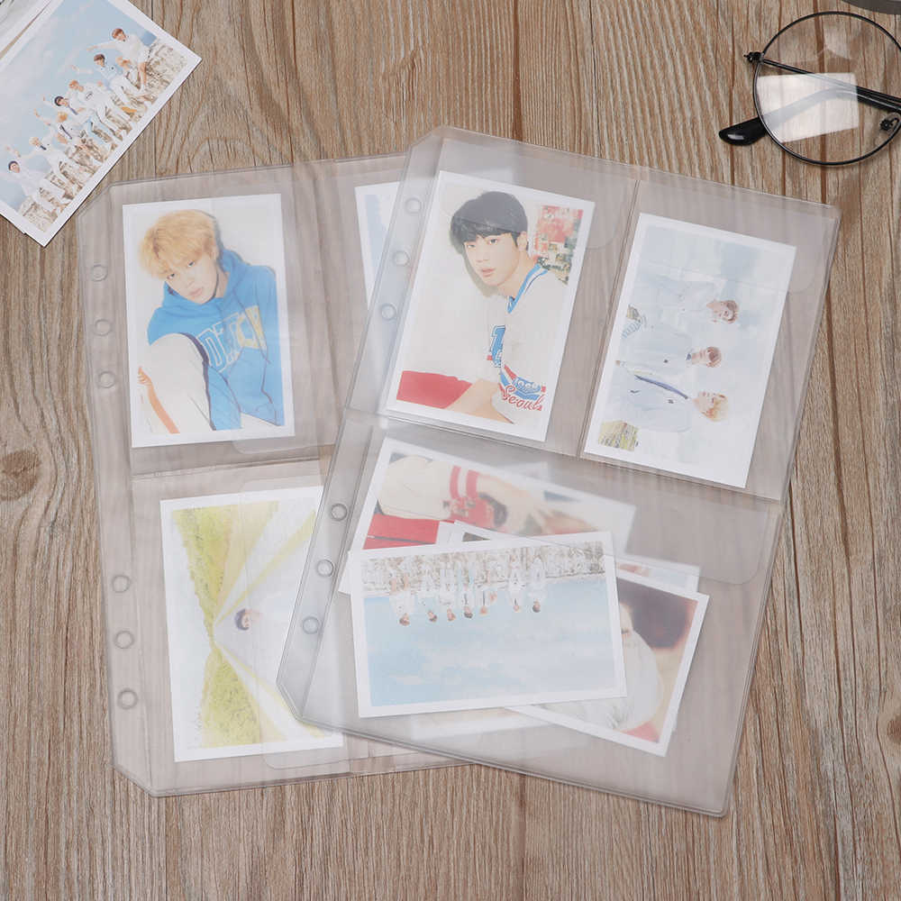 3 Styles A5 Transparent PVC Loose-leaf Document Postcard Storage Pouches Bag Organizer Clear Resealable Concise Collection Bag
