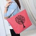 Nueva moda linda impresión mujeres bolsas bolsas bolsa de hombro informal bolso de cuero de las señoras bolsos de alta calidad bolsas feminina