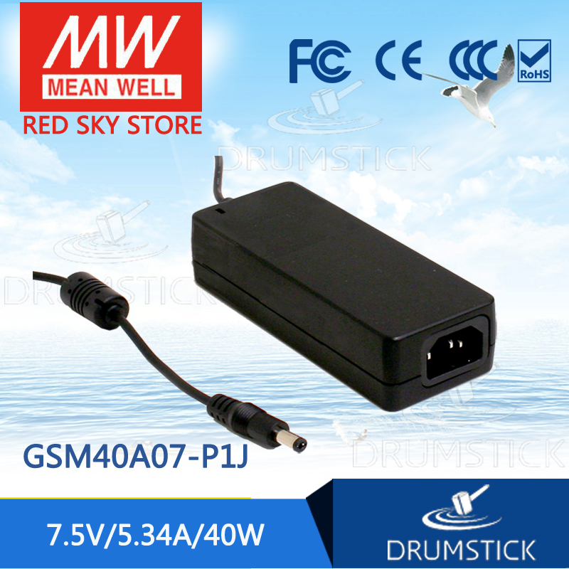Advantages MEAN WELL GSM40A07-P1J 7.5V 5.34A meanwell GSM40A 7.5V 40W AC-DC High Reliability Medical Adaptor advantages mean well gsm18b12 p1j 12v 1 5a meanwell gsm18b 12v 18w ac dc high reliability medical adaptor