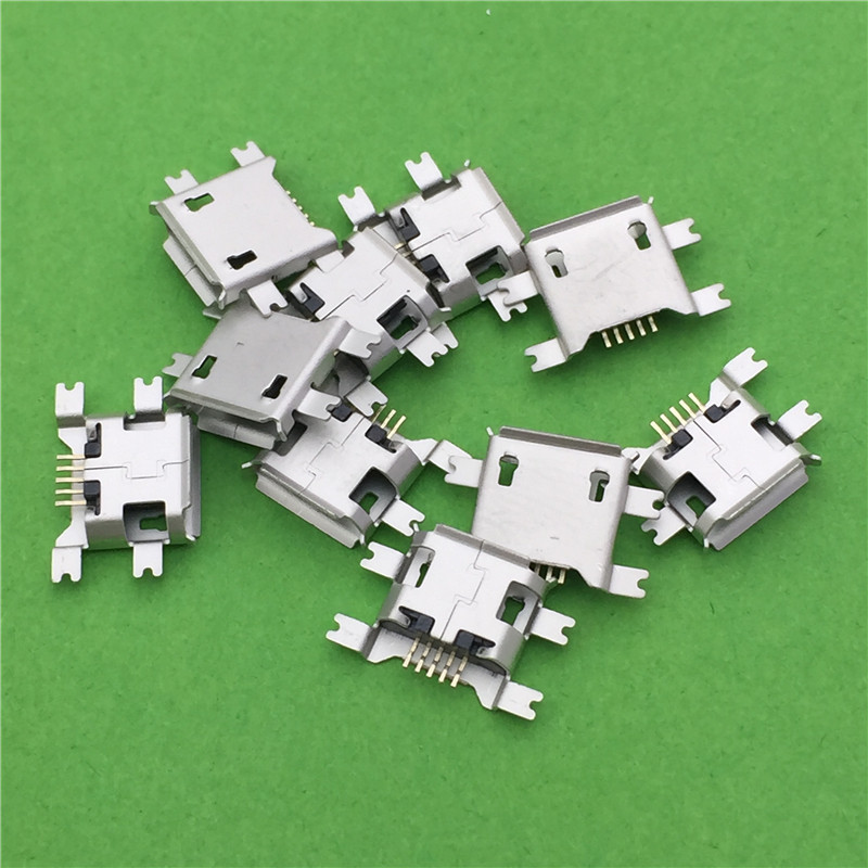 10pcs/lot 5pin Female Micro USB Connector Socket G22 SMD 4 feet Widely Used In Tablet Phone PDA Charging Free Shipping
