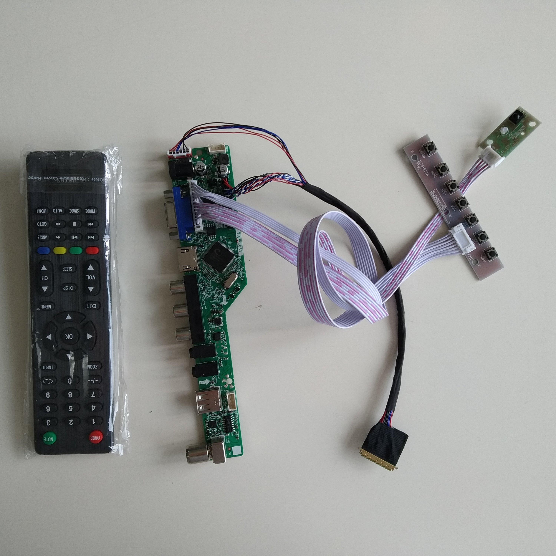 For B156HW02 V1 TV HDMI+DVI+VGA LCD Lvds Converter Board Controller Kit