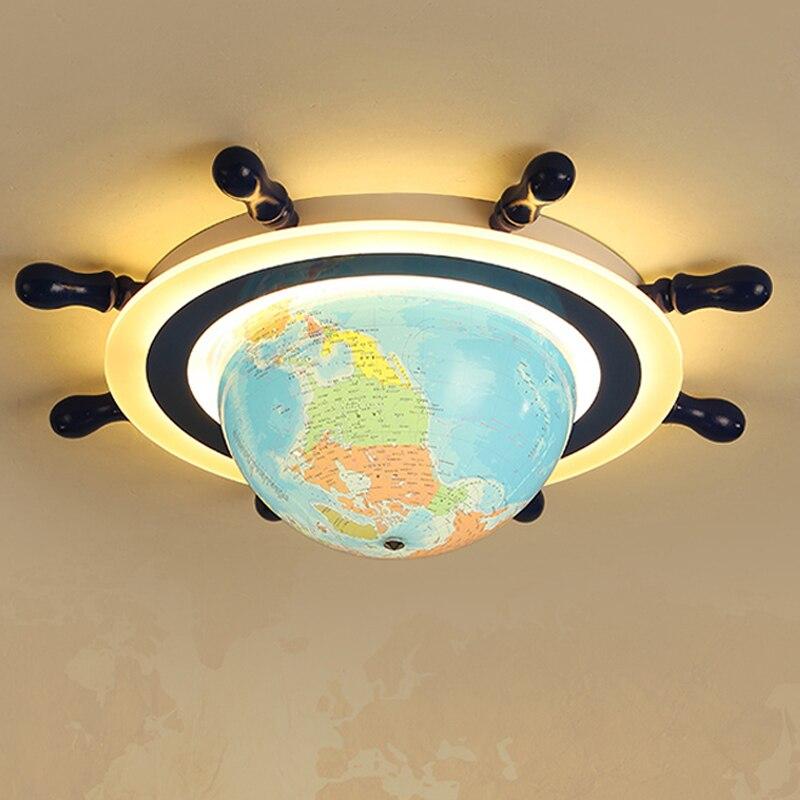 Children's Room led Ceiling Light Eye Protection Bedroom Ceiling Lamp Globe Children's Playground Kindergarten Cartoon led Light