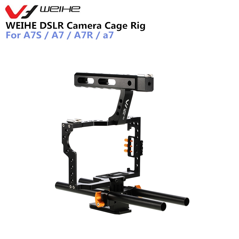цены на WEIHE DSLR Camera Protective Case Cover Camera Video Cage Stabilizer Rig Camera Protective Cage for A7S / A7 / A7R / a7 в интернет-магазинах