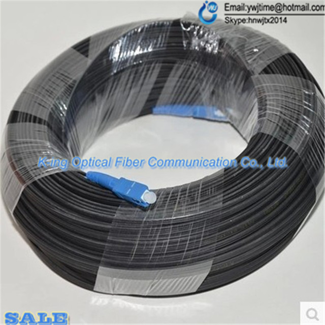 Free Shipping 50M FTTH Fiber Optic Drop Cable Patch Cord SC to SC Simplex Singlemode SC-SC 50 Meters SM Fiber Optic Jumper