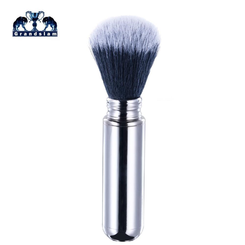 Grandslam Mans Shaving Brush, Synthetic Hair Men Travel Shaving Brush Aluminum Handle For Shaving Safety Razor Beard Brushed