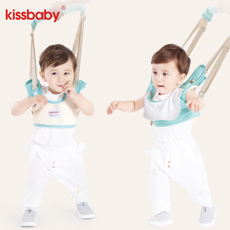 Hot Sale Kissbaby Cotton Baby Walker Harness Leash Toddler Anti Lost