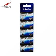 10pcs/pack Wama AG2 1.5V Button Cell Batteries 396A LR59 196 612 LR726 LR59 Watch Alkaline Button Coin Battery стоимость