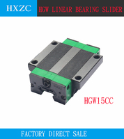 Free shipping 4PCS HGW15CC OR HGH15CA sliding block match use HGR15 linear guide width 15mm guide for CNC router