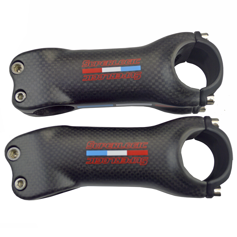 31.8 Bicycle Stem Carbon Stem Bike Road MTB 6/17 Degree superlogic Carbon Cycling Stems 3K Matte 70/80/90/100/110/120/130mm aluminum carbon fiber bicycle stem road mountain bike stem mtb 6 17 degree 31 8 60 70 80 90 100 110 120mm bicicleta parts