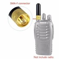 מכשיר הקשר 2pcs Retevis RT-805S UHF + VHF אנטנה SMA-F עבור Kenwood Baofeng UV-5R BF-888S Retevis H777 RT-5R 2 Way רדיו מכשיר הקשר C9022A (5)