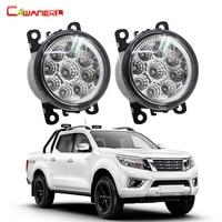 Cawanerl 1 Pair Car LED Daytime Running Light Fog Lamp DRL 12V DC Car Styling For NISSAN Navara D40 Pickup 2005 2015