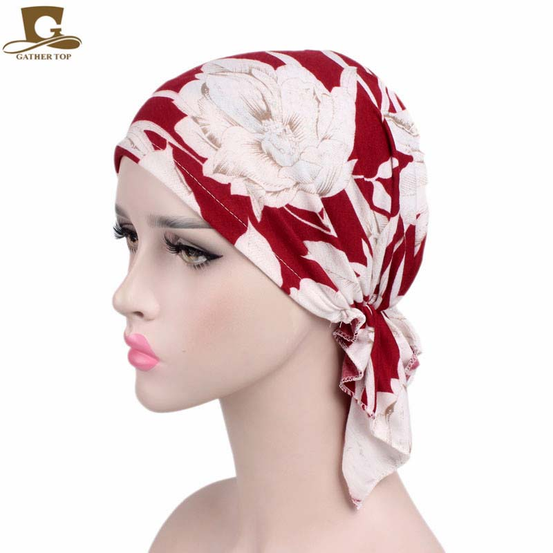 New Women cotton Bandana Scarf Pre Tied Chemo Hat Beanie Turban   Headwear   for Cancer Patients Ladies Turbante