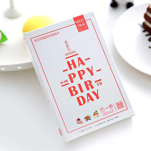 Online Shop 30 Pcs Lot Birthday Cake Postcard Heteromorphism Greeting Card Christmas Creative Gift Cards Stationery