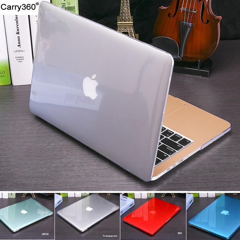 2016 nuovo cristallo cassa opaca trasparente per apple mac book air pro retina 11 12 13 sacchetto 15 del computer portatile per macbook air 13 caso copertura