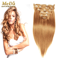 Remy Virgin Brazilian Hair Clip In Extensions 70 g-220 g Clip In Straight Hair Extensions Blonde Clip In Human Hair Extensions