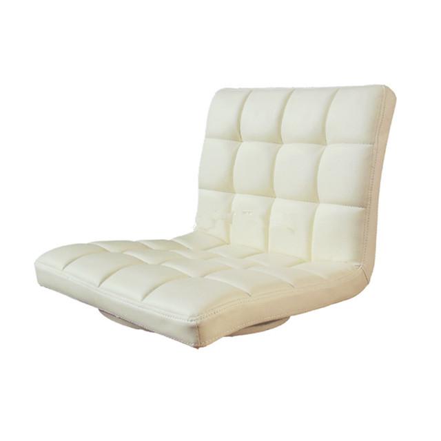 Piso Estar Cadeira de Couro Mobiliário Moderno Sala de Meditação de 360 Graus de Rotação de Couro PU Assento Zaisu Cadeira de Jogos