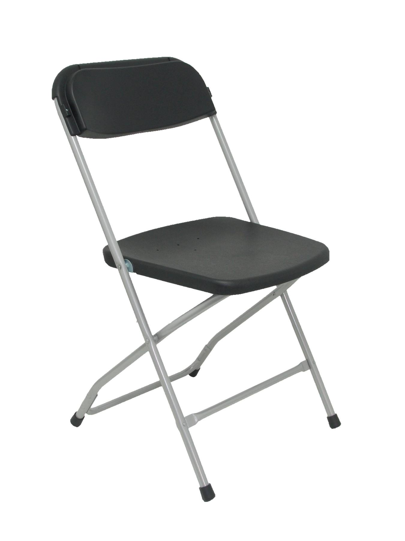 Pack 5 Folding Chairs Conference Up Seat And Backstop Polypropylene Capacitor's Color Black TAPHOLE AND CURLED Model Nurseries