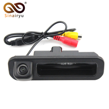 Sinairyu Waterproof Night Vision Car Rear View Trunk Handle Camera for Ford Focus 2012-2015 Focus 2 Focus 3 with LED