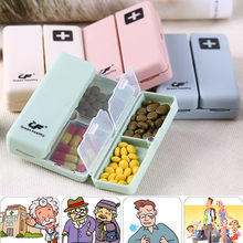 Portable Medicine Case Foldable Magnetic Supplement Pill Box Organizer Folding flip magnetic travel outdoor storage kit#10(China)