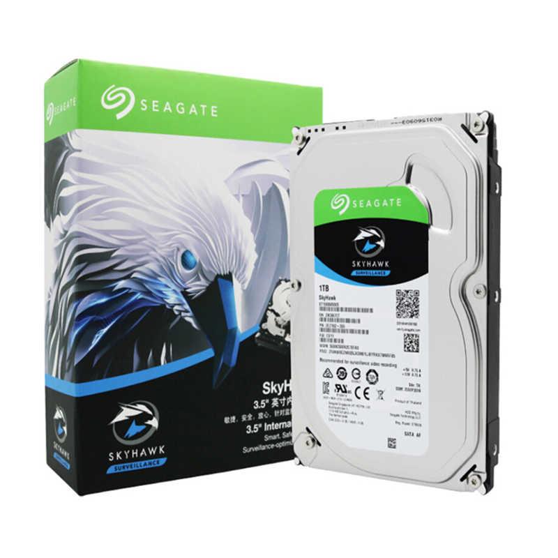 """الأصلي سيجيت الداخلية HDD 1 تيرا بايت سكاي هوك فيديو مراقبة القرص الصلب 3.5 """"5900 دورة في الدقيقة SATA 6 جيجابايت/ثانية 64 ميجابايت مخبأ ST1000VX005"""