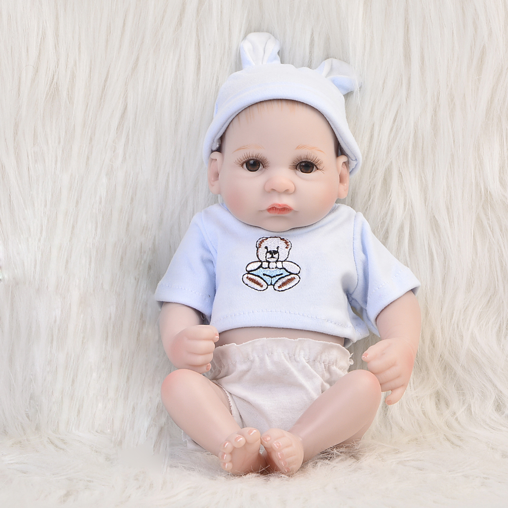 KEIUMI 11'' Lovely Peanut Reborn Dolls Babies Realistic Newborn Baby Boy Full Silicone Body Dolls Reborn For Kids Birthday Gift mother to be gift silicone reborn toddlers 22inches solid realistic full body cosplay reborn dolls wholesale