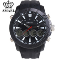 SMAEL Brand LED Digital Watches Silicone Strap Best Gift Clocks Man Relogios Masculino Multifunctional Casual Watch Men Military