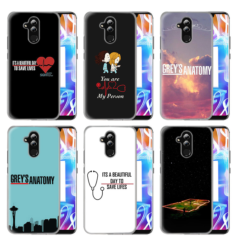 Case Cover For Huawei Honor P20 Mate 20 10 P10 P9 P8 8X 9 Lite P Smart + Plus 2017 2019 Nova 3i Clear Greys Anatomy-in Half-wrapped Cases from Cellphones & Telecommunications