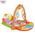 Beiens GINÁSIO de Piano Para O Bebê 0-12 Meses Com Mordedor Chocalho Música Esteira do Jogo de Luz Colorido Mirrio desenvolvimento Precoce Brinquedo Musical