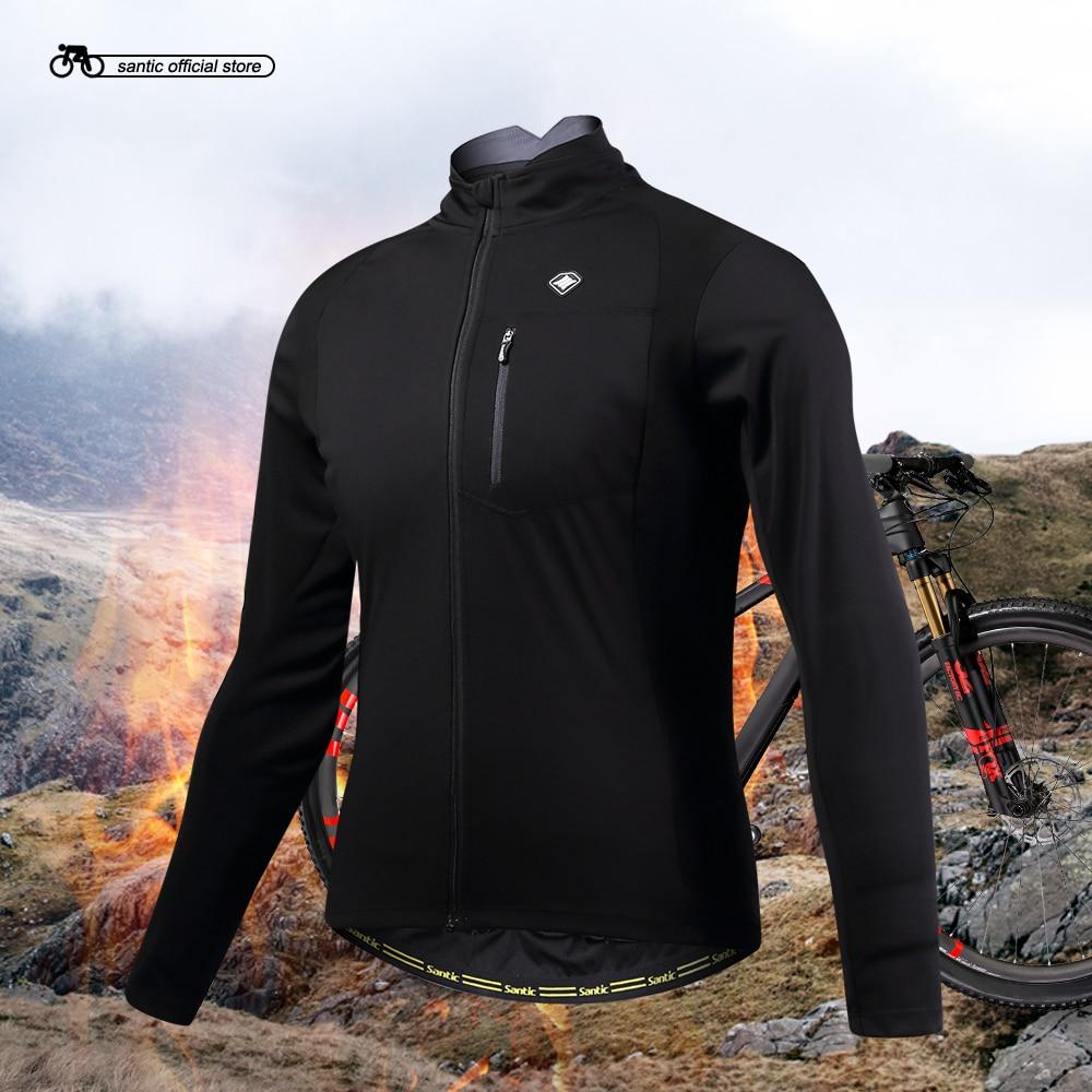 Сантич мужчины Велоспорт куртки Ветрозащитный Велоспорт пальто куртки держать теплый черный весна осень зима Велоспорт одежда KC6104H