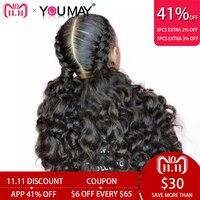 Предварительно сорвал полный кружево натуральные волосы Искусственные парики с ребенком волос 150% Glueless свободная ткань полный кружево пари
