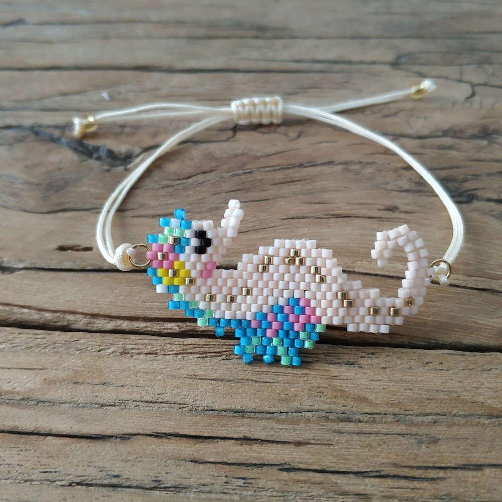 Shinus 5Pcs lot Miyuki Bracelet Women Seahorse Bracelet Perles Miyuki Animal Pulseras Mujer 2019 Child Gift Jewelry Delica Beads in Charm Bracelets from Jewelry Accessories