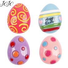 JOJO BOWS 10pcs DIY Craft Supplies Egg Planar Flatback Resin Patch Accessories Hair Bows Material Phone Case Apparel Sticker
