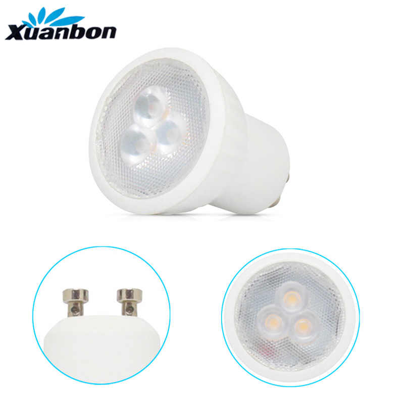 LED mini GU10 MR11 3W 35mm Spotlight Bulb Lamp replace halogen lamp AC85-265V SMD 2835 Home lights