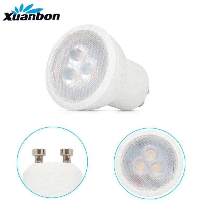 Приглушаемая светодиодная мини-лампа 3 Вт GU10 MR11 AC85-265V 35 мм, светодиодные точечные светильники с теплым белым натуральным белым холодным белы...