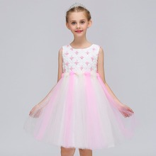 Flower Girls Dress Kids Pageant Party Wedding Ball Gown Prom Princess Formal Occassion Girls Dress 2018 kids girls lace flower bow formal party ball gown prom princess bridesmaid wedding children tutu dress fashion grown